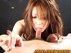 Rika Sakurai Asian milf gives a face fucking and gets pussy licked