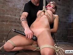 Bizarre Bondage session with slave Charlotte