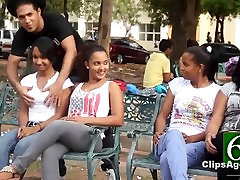 100 girls allowing their boobs to be groped by stranger in public