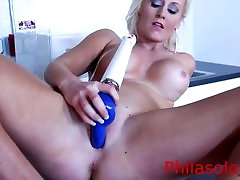 Big tit blonde Rachel Harley in a sexy video with toys