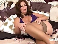 Sweet Mature in Stockings Masturbates, Porn 9f