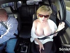 Cheating british milf lady sonia presents her massive tits