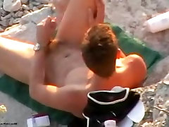 Gorgeous Young Stud Jerks off on Nude Gay Beach