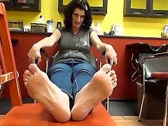 Mature Lady Big Feet