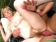 Hairy blond mature fuck