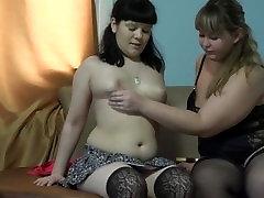 bbw lesbian, anal with dildo