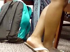 Candid Ebony Feet in Library 10