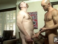 Fat Cocked Muscle Daddies Fuck On A Chair