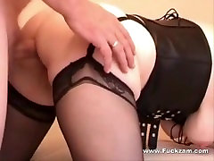 Blonde Mature Fucked Anally & Jizzed On