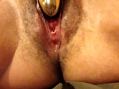 Playing with one of my new toys and squirting