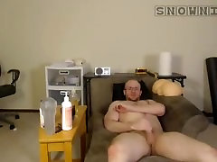 Str8 Hunk Fucks Sex Toy & Eats Cum