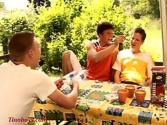 young boys join a threesome