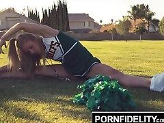 PORNFIDELITY Cheerleader Slut Nicole Clitman Creampied By Gym Teacher