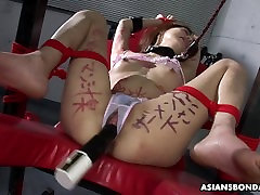 Her panties are dripping wet from her nasty bdsm session