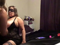 BBW BBM BDSM Couple morning sex spanking flogging but plug feet tickled
