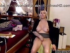 Paraplegic goddess Janelle with tasty enormous tits