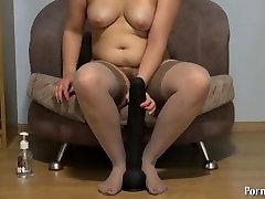 Natasha fuck her ass, huge dildo!