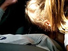 Public Street Car Blowjob & Cum in Mouth Driving