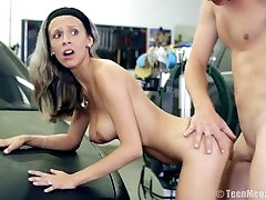 Tracy gets sex in garage