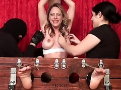 MILF Natalie Tickled to Tears