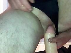 Teen Panty Boy Rides a Large Dildo
