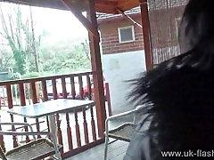 Chubby amateur Sarah Janes public masturbate