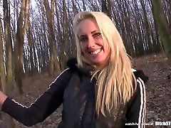 Bitch STOP - Outdoor sex with hot blonde