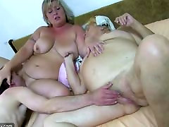 Fat bbw granny have sex with chubby Mature an