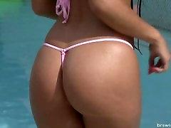 Bikini girls sexy micro bikini bikini model photoshoot