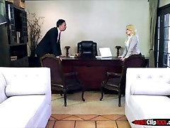 Serious Blonde Nikki Delano agree Challenge At Work