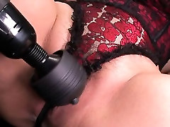 Sexy oriental mom strips and her twat finger fucked