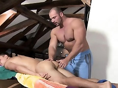 Steamy sexy massage session for slutty gay boy-friend