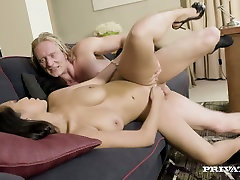 Asian beauty Sharon Lee gets her shaved cunny nailed well