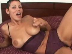 Ebony Slut Hungry For Cock Interracial Handjob