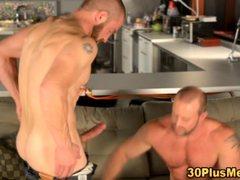 Gay muscular bear rimming