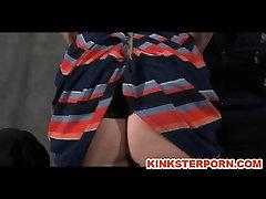 BDSM Slave Cici Whip Torments in Bondage
