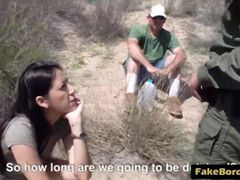 Young Kimberly Gates Moans While Getting Fucked By Border Patrol Agent
