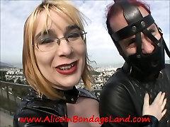 Public Bondage Strait Jacket FemDom Mistress Alice San Fran