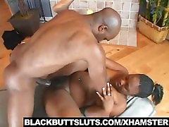 Sexy Ebony Rides Dick