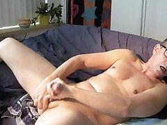 Cock BDSM self treatment, piss wank estim sounding