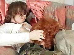 Redhead BBW Mom Sucks off Teen