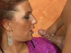 German redhead MILF fucked by two guys