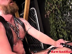 Bear biker barebacking chubby ass doggystyle