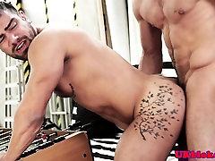 UK top hunk railing bottoms inked ass