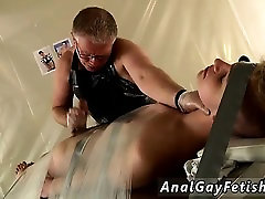 Gay virgin bondage male and boys bondage orgasms Taped Down