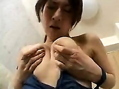 Sensual Asian girl with a sublime ass finds a way to make h