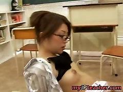 Hot Asian teacher fucks and sucks part6