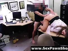 CFNM MILF sucking big cock for cash on camera