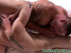 Muscled sailors dark hole pounded raw