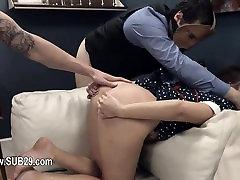 subtle BDSM anal action in gangbang